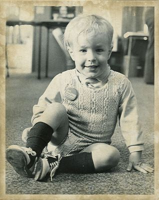 Anton at age 2, campaigning for Jack Shaffer