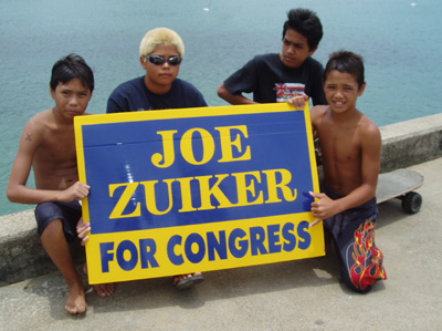 Joe Zuiker, running for Congress on Kauai, Hawaii