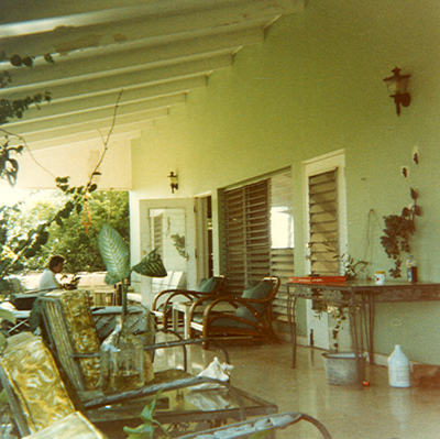The patio of the St. Croix house in Carlton Estate
