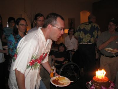 Anton and cake on his 40th birthday